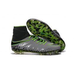 Uomo Nike HyperVenom Phantom II ACC FG scarpe da calcio Platino Puro Nero Verde