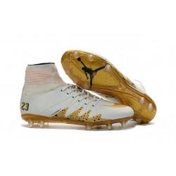 Uomo Nike HyperVenom Phantom II ACC FG scarpe da calcio Neymar x Jordan Bianco Oro