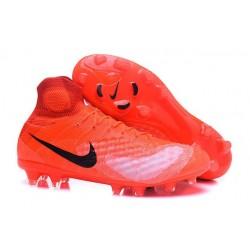 2016 Scarpe da Calcio Nike Magista Obra 2 FG Arancione Nero