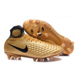 2016 Scarpe da Calcio Nike Magista Obra 2 FG Nero Oro