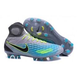 2016 Scarpe da Calcio Nike Magista Obra 2 FG Platino Puro Nero Verde