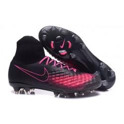 Uomo Nike Magista Obra II FG scarpe da calcio Nero Rosa