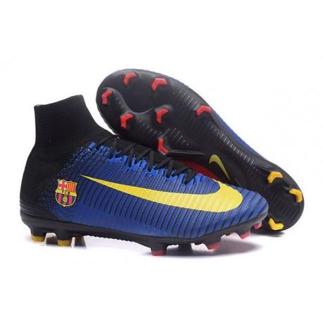 Nuovi Scarpini Calcio Nike Mercurial Superfly V FG - Uomo Barcelona FC Blu Rosso Giallo Nero