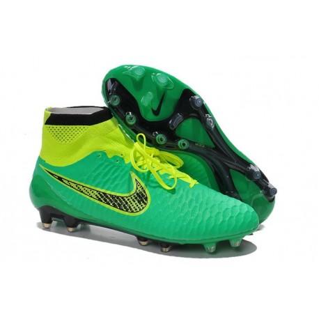 Scarpe Da Calcio Nike - Scarpe Nike Magista Obra Fg - Terreni Compatti - Verde Nero Giallo