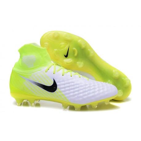 Nuove Scarpe da Calcio Nike Magista Obra 2 FG Bianco Volt Nero