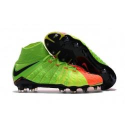 Scarpe da Calcio Nuovo Nike Hypervenom Phantom 3 DF FG - Verde Arancio
