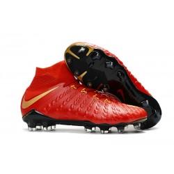 Scarpe da Calcio Nuovo Nike Hypervenom Phantom 3 DF FG - Rosso Oro