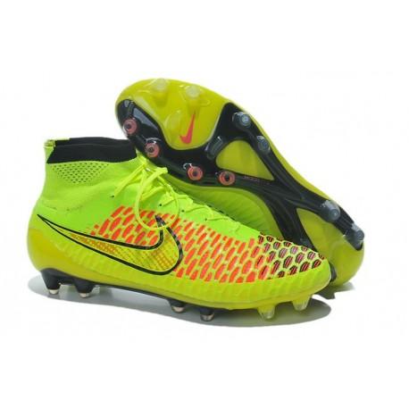 2015 Nike Tacchetti Da Calcio Magista Obra Fg Arancione Volt Nero