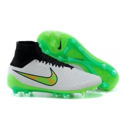 Scarpe Da Calcio Nike - Scarpe Nike Magista Obra Fg - Terreni Compatti - Nero Bianco Verde