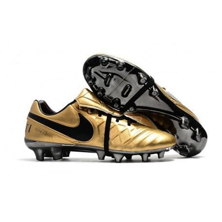 Scarpa da Calcio Nike Nuovo 2017 Tiempo Totti X Roma Oro