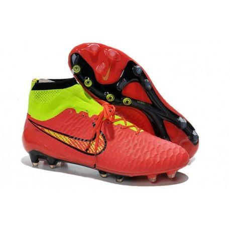 Scarpe Da Calcio Nike - Scarpe Nike Magista Obra Fg - Terreni Compatti - Rosso Verde Nero