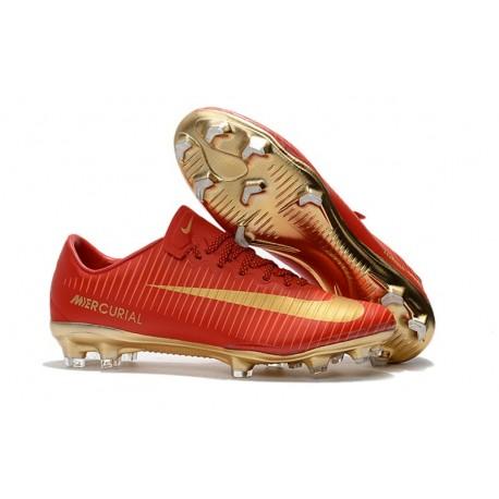 Nike Mercurial Vapor 11 FG - Scarpe da Calcio 2017 - CR7 Oro Rosso