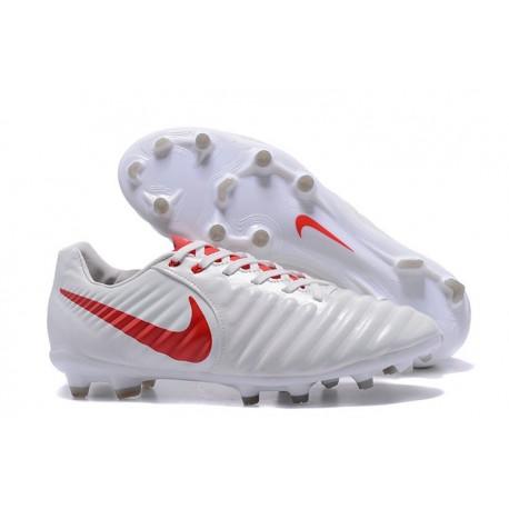 Scarpa da Calcio Nike Nuovo 2017 Tiempo Legend VII FG - Bianco Rosso