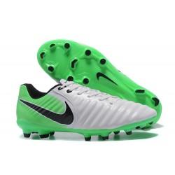 Scarpa da Calcio Nike Nuovo 2017 Tiempo Legend VII FG - Bianco Verde Nero