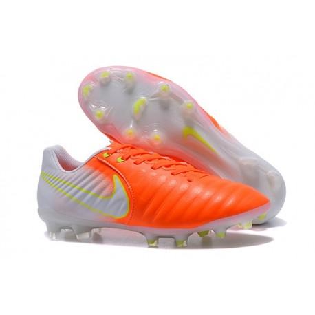 Scarpa da Calcio Nike Nuovo 2017 Tiempo Legend VII FG - Arancione Bianco