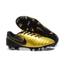 Scarpa da Calcio Nike Nuovo 2017 Tiempo Legend VII FG - Oro Nero