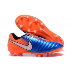 Scarpa da Calcio Nike Nuovo 2017 Tiempo Legend VII FG - Arancione Blu