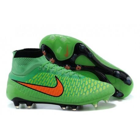 2015 Nike Tacchetti Da Calcio Magista Obra Fg Verde Arancione Nero