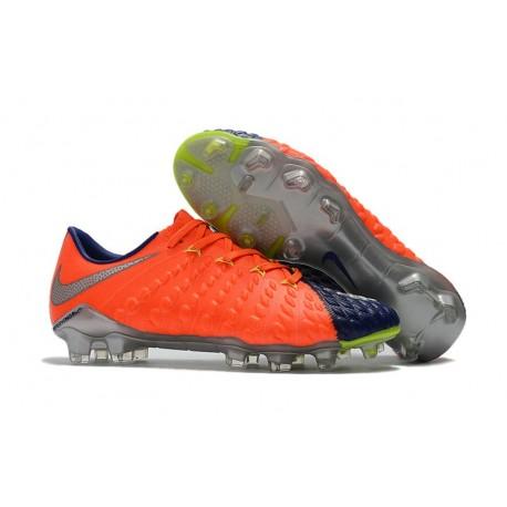 Scarpe da Calcio Nike Hypervenom Phantom III FG - Arancione Argento