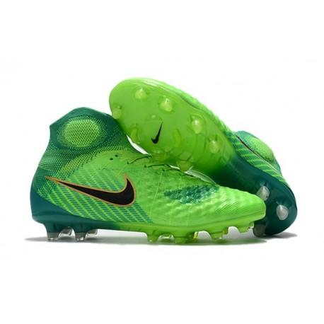 Nuove Scarpe da Calcio Nike Magista Obra 2 FG Verde Nero