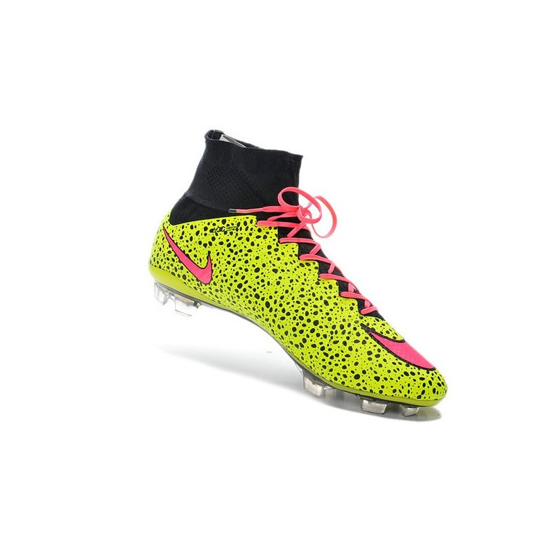 Giallo Scarpe Nike Calcio Nero Nuove Rosa Fg Mercurial OO7zHXqw