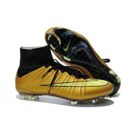 2015 Scarpini Calcio Nike Mercurial Superfly FG Oro Nero Volt