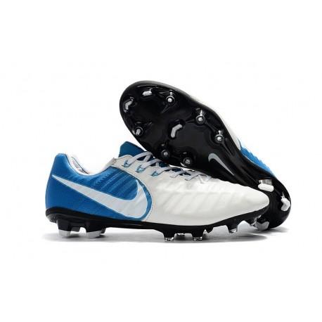 Scarpa da Calcio Nike Nuovo 2017 Tiempo Legend VII FG - Blu Bianco
