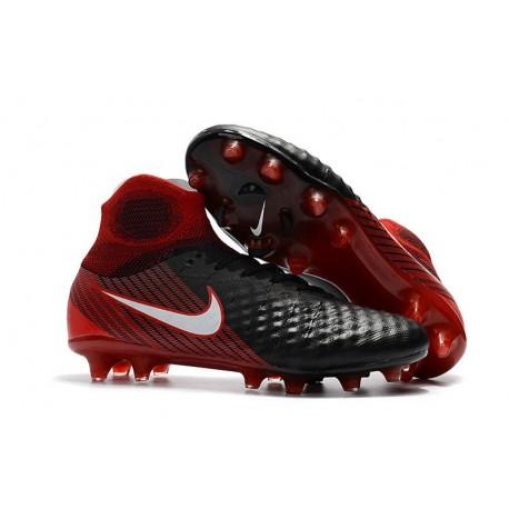 Nike Magista Obra II FG Scarpa Calcio Uomo 2017 - Nero Bianco Hyper Crimson Bright Crimson