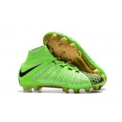 Nuovo Nike Hypervenom Phantom III DF FG Scarpa Calcio EA Verde Nero Oro