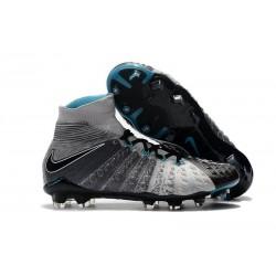 Nuovo Nike Hypervenom Phantom III DF FG Scarpa Calcio Grigio Nero Blu