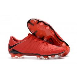 Scarpe da Calcio Nike Hypervenom Phantom 3 FG - Rosso Nero