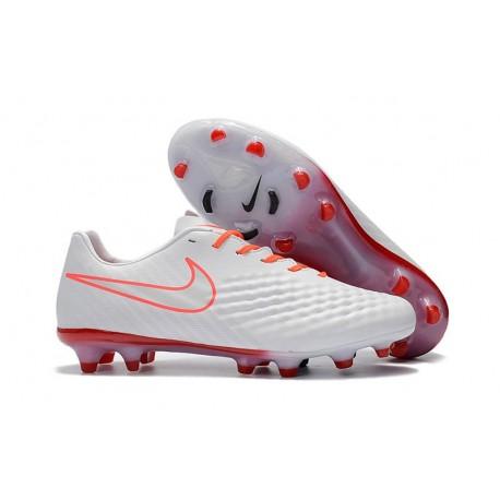 Scarpe Da Calcio Nuove Nike Magista Opus II FG - Bianco Arancione
