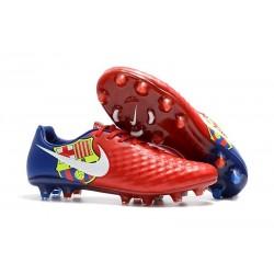 Scarpe Da Calcio Nike Magista Opus II FG per Uomo Barcelona Rosso Blu