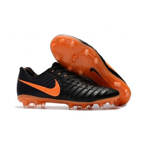 Nuovo Scarpa da Calcio Nike Nuovo Tiempo Legend 7 FG - Nero Orange