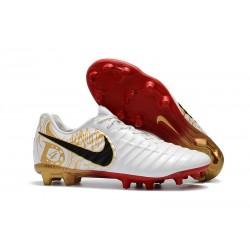 Nuovo Scarpa da Calcio Nike Nuovo Tiempo Legend 7 FG - Bianco Oro Metallico Vivido