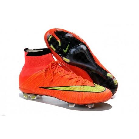 Scarpe Da Calcio Nike Mercurial Superfly Fg Uomo Arancione Giallo Nero