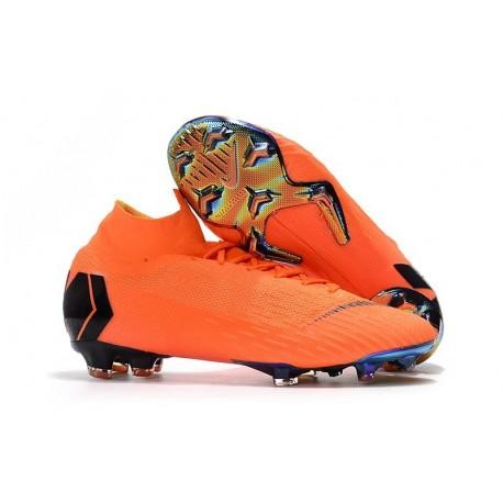 Scarpe Da Calcio Nike Mercurial Superfly VI 360 Elite FG - Uomo Arancione Nero Volt