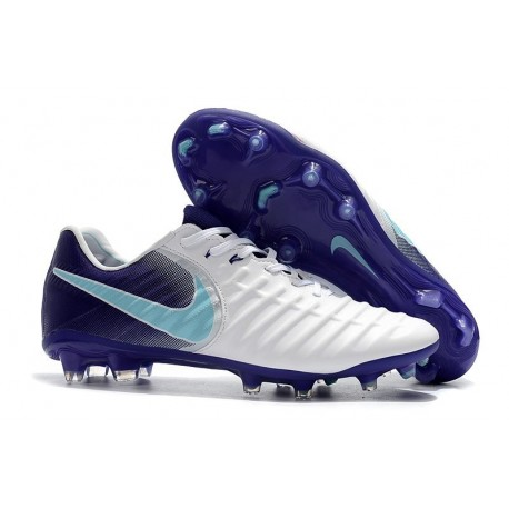 Nuovo Scarpa da Calcio Nike Nuovo Tiempo Legend 7 FG - Bianco Viola