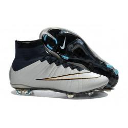 Scarpe calcio Nuove Nike Mercurial Superfly FG Bianco Rosa Nero