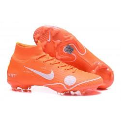 Scarpe Da Calcio Nike Mercurial Superfly VI 360 Elite FG - Uomo Off-White For Nike Arancione Bianco Blu Giallo