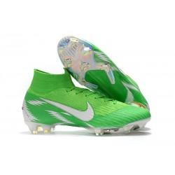 Scarpe Da Calcio Nike Mercurial Superfly VI 360 Elite FG - Uomo Argento Verde