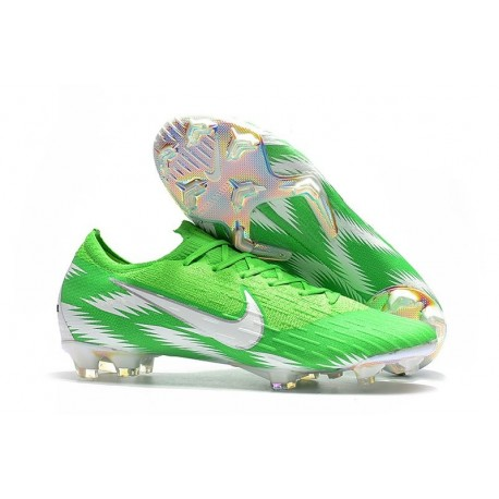 Scarpe da Calcio Nike Mercurial Vapor XII 360 Elite FG Argento Verde