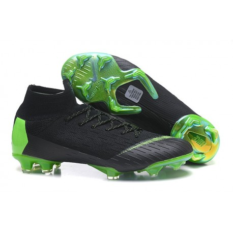 best loved b1971 23be9 2018 Scarpe Da Calcio Uomo Nike Mercurial Superfly VI 360 Elite FG - Nero  Verde