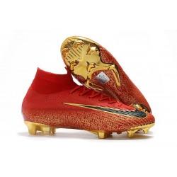 Scarpa Da Calcio Nike Mercurial Superfly VI 360 Elite FG - Oro Nero Rosso