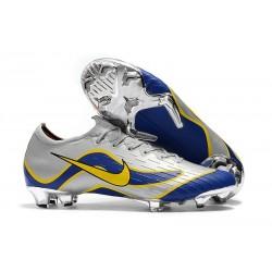 Scarpe da Calcio Nike Mercurial Vapor XII 360 Elite FG Argento Blu Giallo
