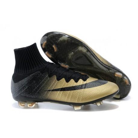 Scarpe calcio Nuove Nike Mercurial Superfly FG Nero Oro