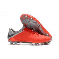 Scarpe da Calcio Nike Hypervenom Phantom III FG - Rossa Grigio