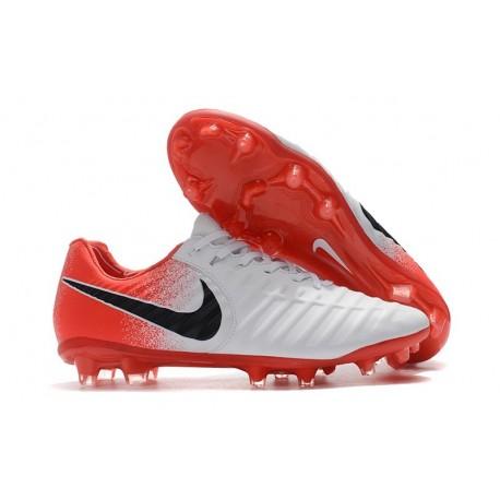 Uomo - Scarpa da Calcio Nike Nuovo Tiempo Legend 7 FG - Bianco Rosso Nero
