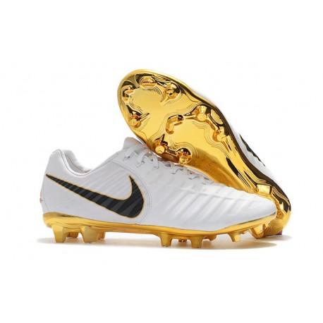 Uomo - Scarpa da Calcio Nike Nuovo Tiempo Legend 7 FG - Oro Bianco Nero