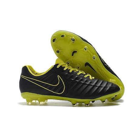 Uomo - Scarpa da Calcio Nike Nuovo Tiempo Legend 7 FG - Nero Giallo
